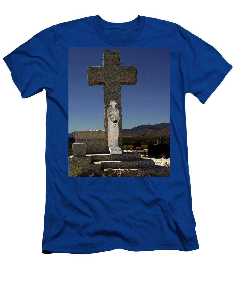 Steps To Salvation Men's T-Shirt (Athletic Fit) featuring the photograph Steps To Salvation by Peter Piatt