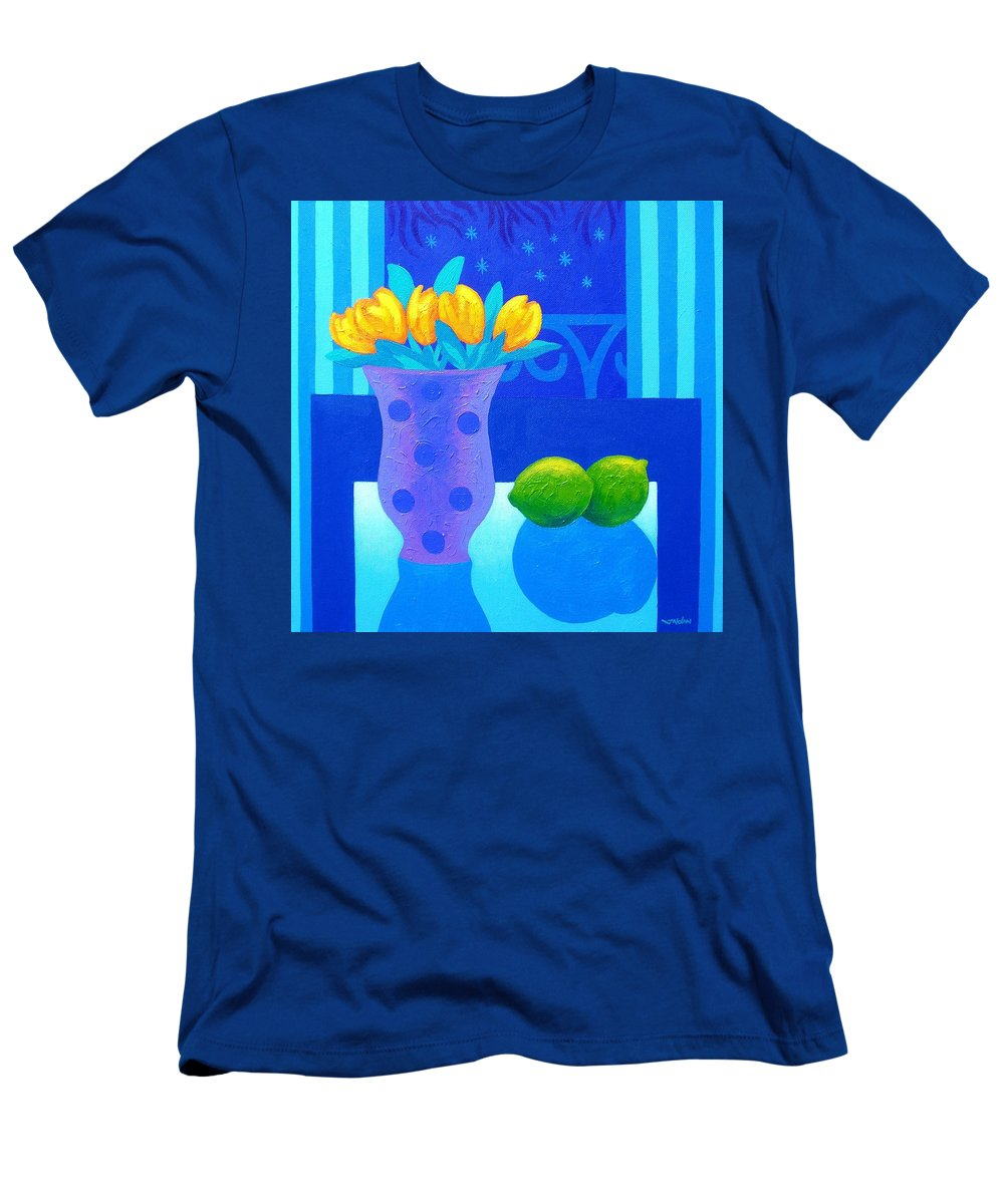 Acrylic Men's T-Shirt (Athletic Fit) featuring the painting Still Life At Window IIi by John Nolan