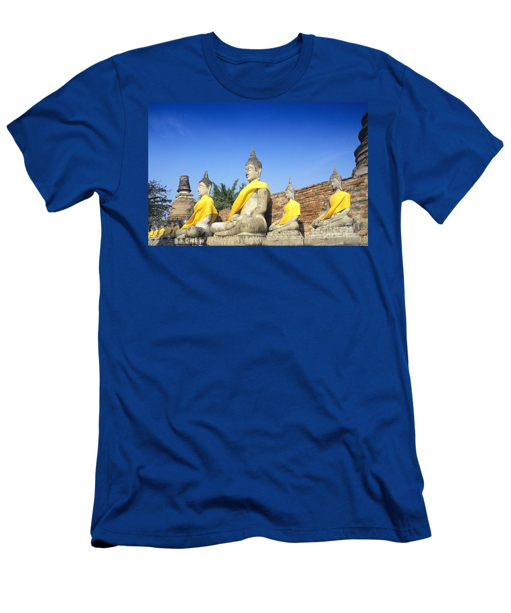 Ancient Men's T-Shirt (Athletic Fit) featuring the photograph Sukhothai Historical Park by Gloria & Richard Maschmeyer - Printscapes