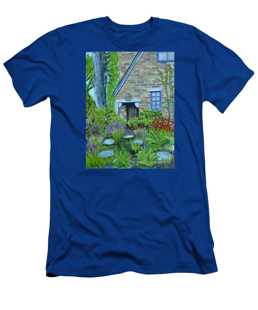Cottage T-Shirt featuring the painting Summer Retreat by Laurie Morgan
