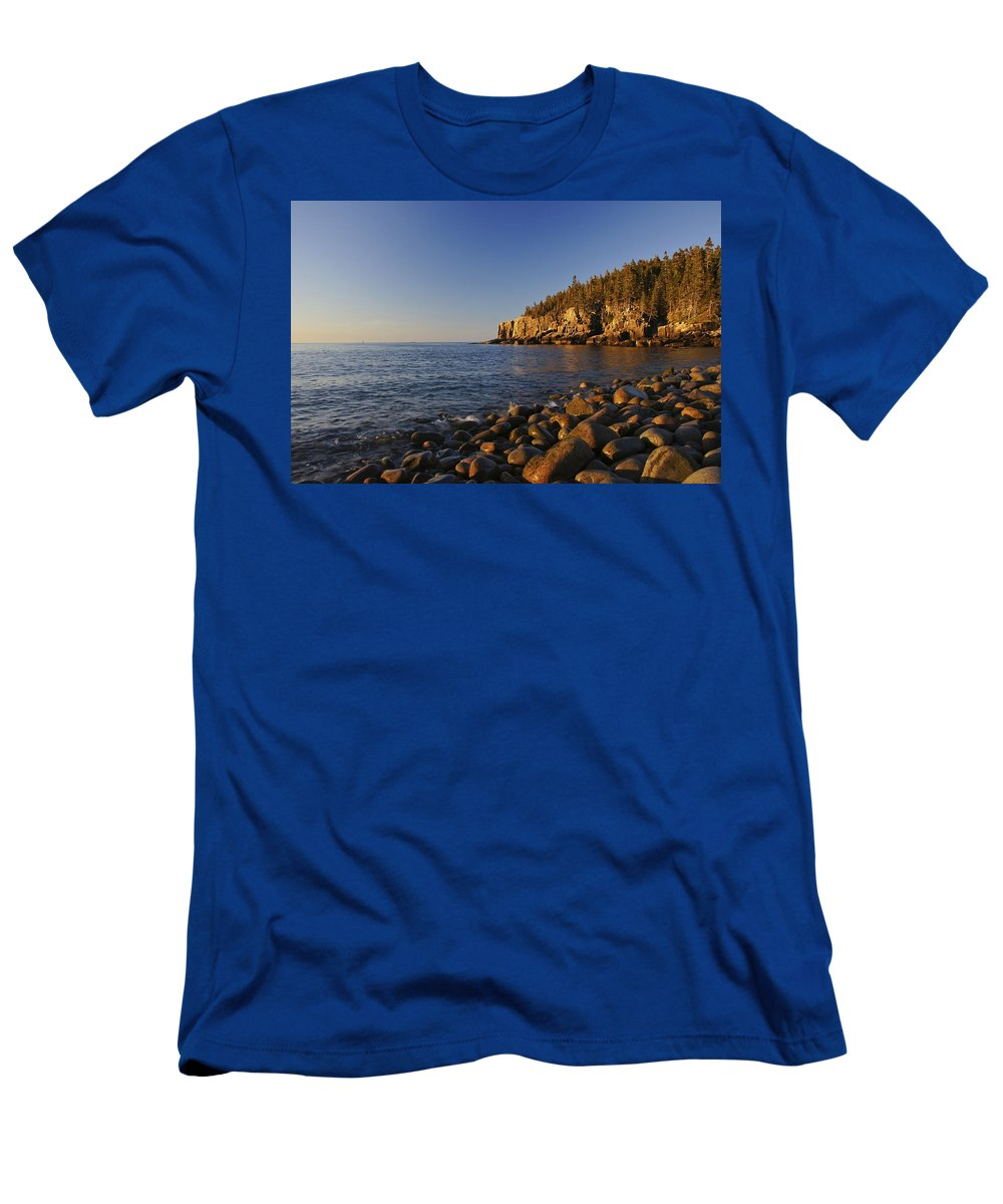 Acadia Men's T-Shirt (Athletic Fit) featuring the photograph Sunrise In Acadia by Brian Kamprath
