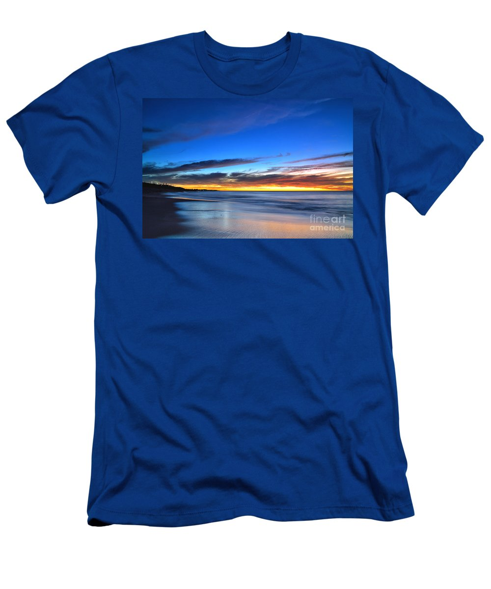 Sunsets Men's T-Shirt (Athletic Fit) featuring the photograph Sunset Blue by Dennis Wat