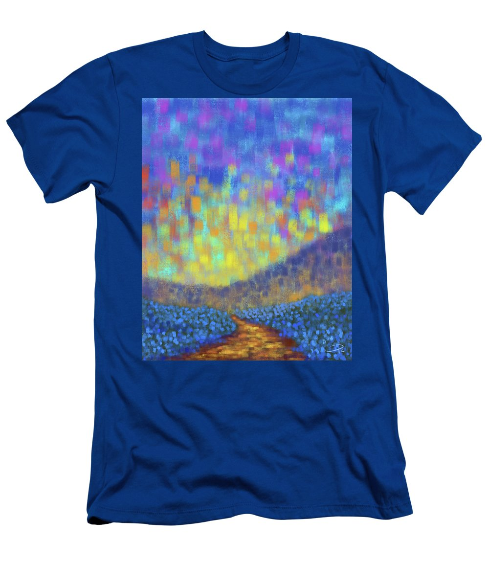 Sunset T-Shirt featuring the digital art Sunset Path by David G Paul