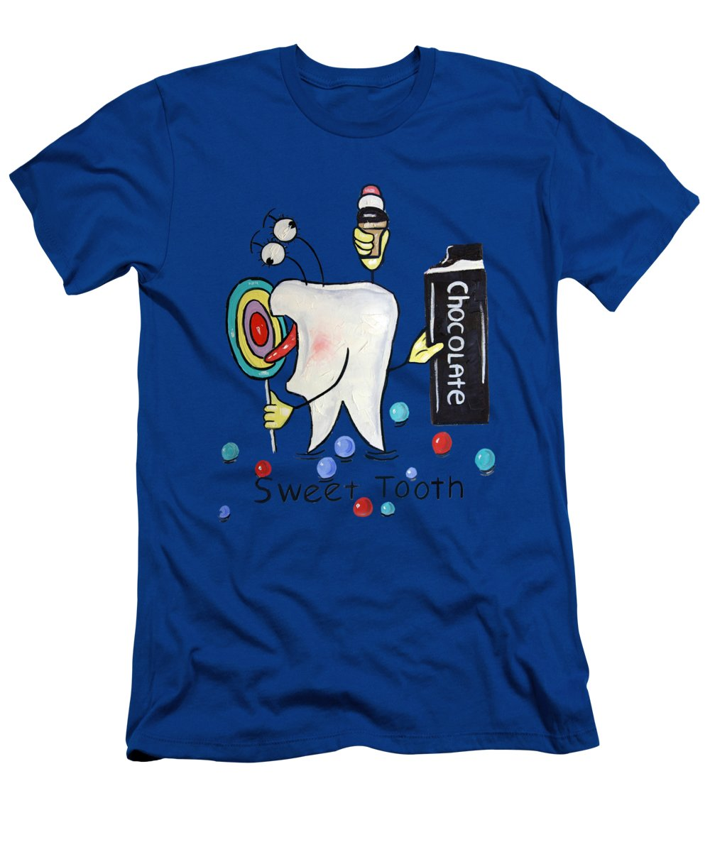 Sweet Tooth Men's T-Shirt (Athletic Fit) featuring the painting Sweet Tooth T-shirt by Anthony Falbo