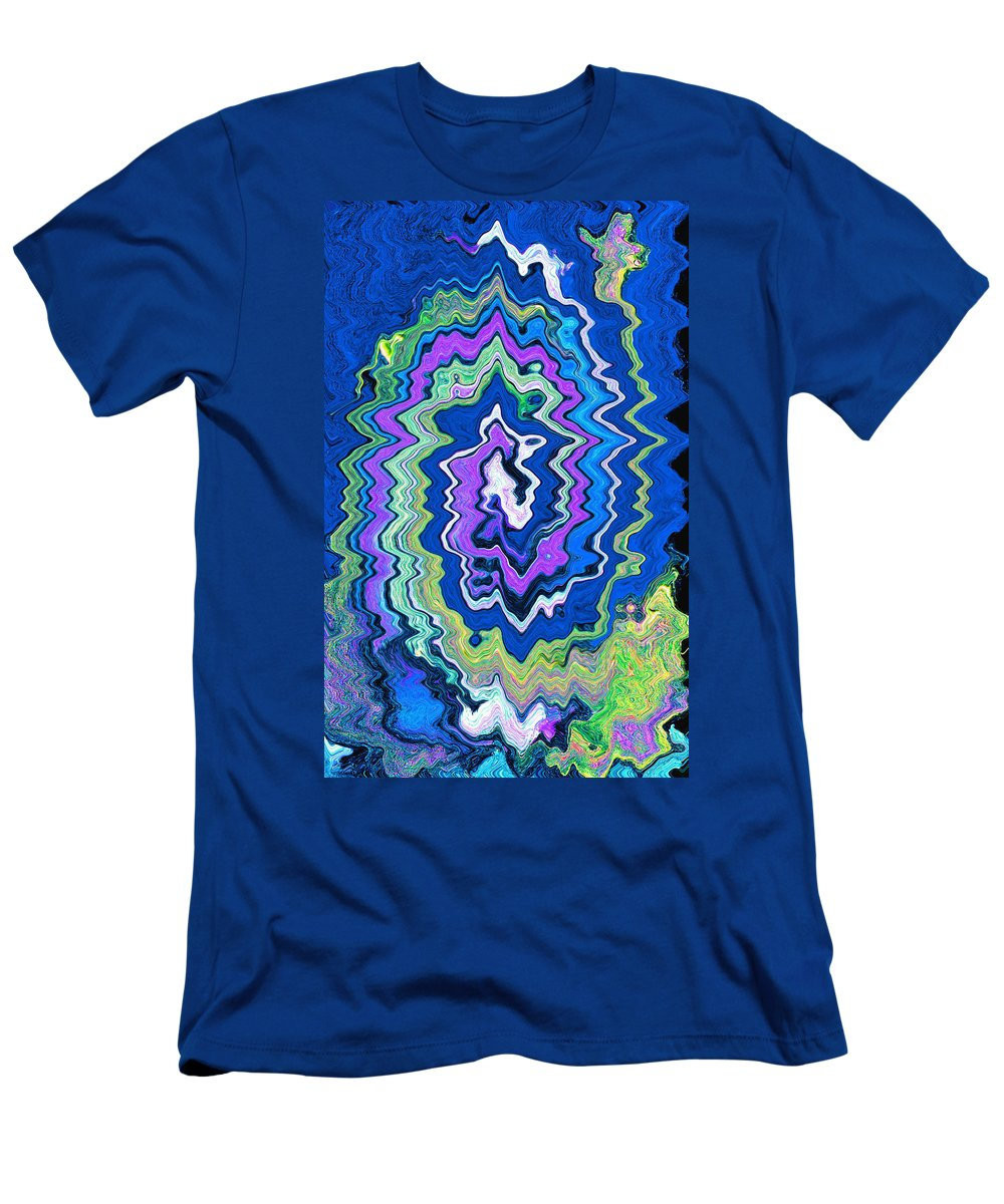 Abstract Men's T-Shirt (Athletic Fit) featuring the painting Swirling Wave by Wayne Potrafka