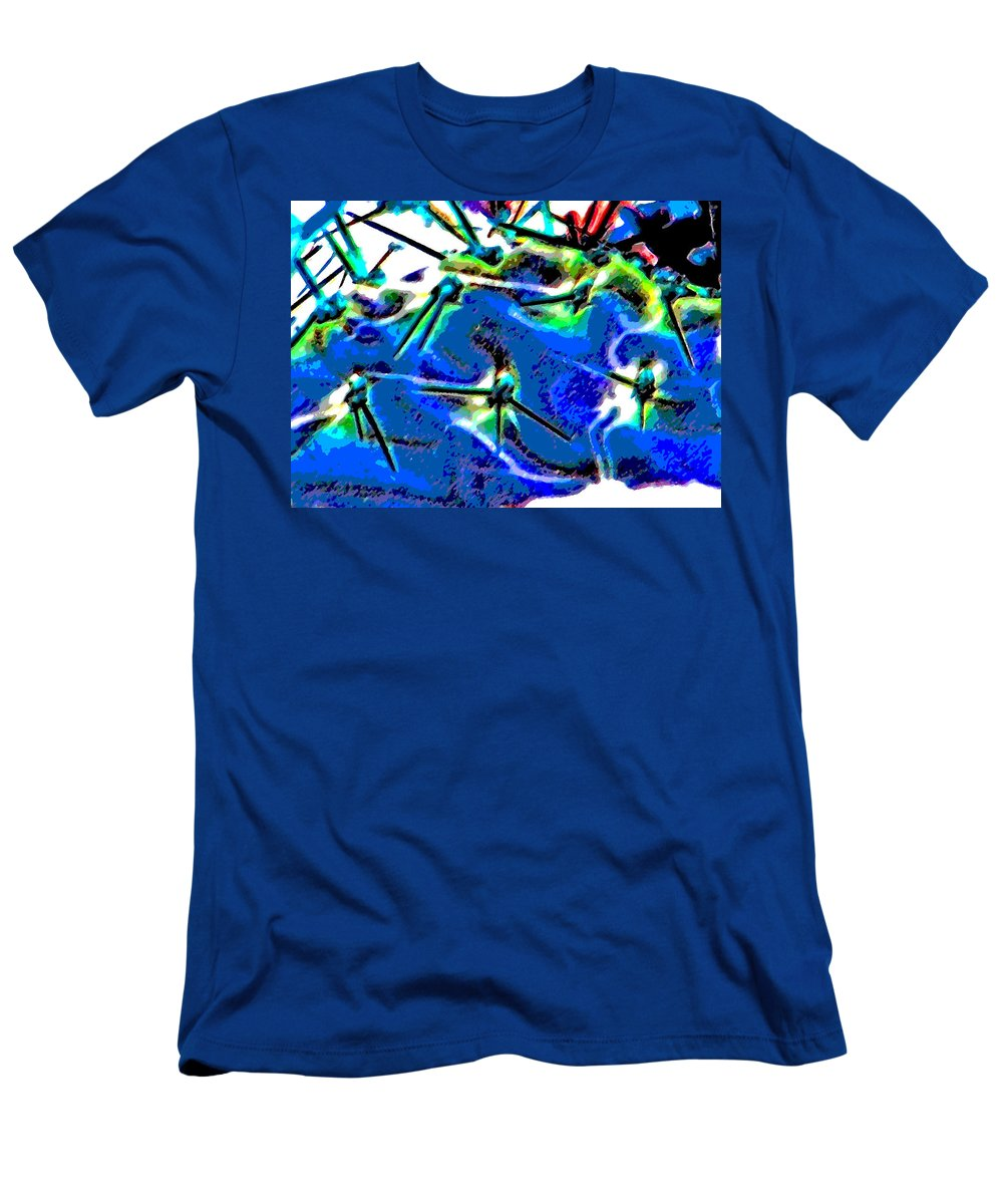 Abstract Men's T-Shirt (Athletic Fit) featuring the photograph Swords by Lenore Senior