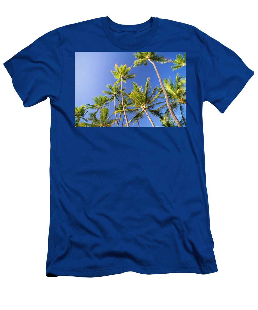 Afternoon Men's T-Shirt (Athletic Fit) featuring the photograph Tall Palms by Bob Abraham - Printscapes