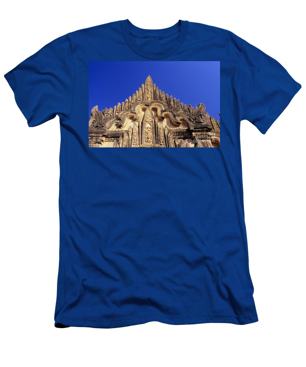 Afternoon Men's T-Shirt (Athletic Fit) featuring the photograph Tayyukpye Temple by Gloria & Richard Maschmeyer - Printscapes
