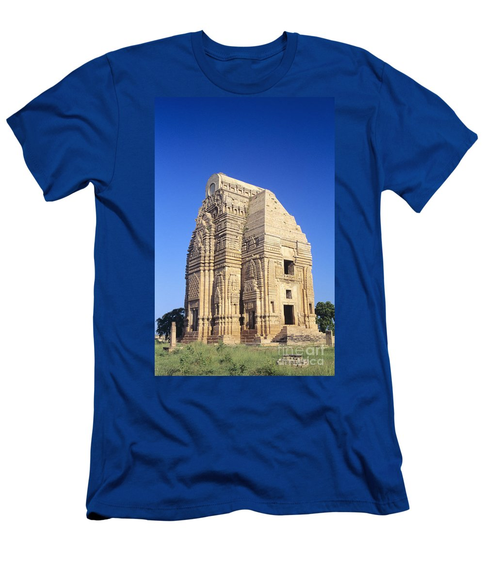 Afternoon Men's T-Shirt (Athletic Fit) featuring the photograph Teli Ka Mandir Temple by Gloria & Richard Maschmeyer - Printscapes