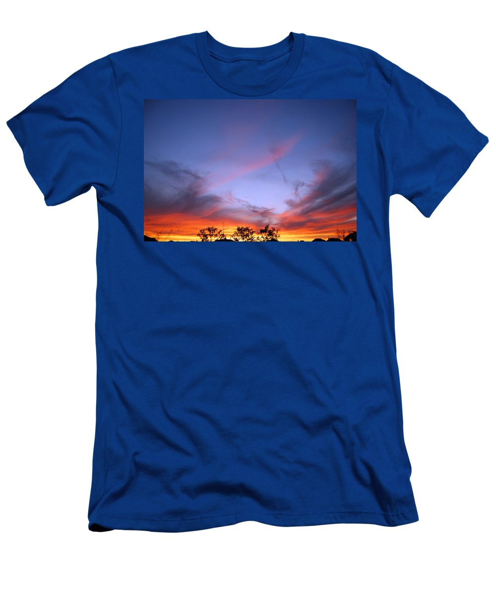 Texas Men's T-Shirt (Athletic Fit) featuring the photograph Texas Sunset by Paulette B Wright