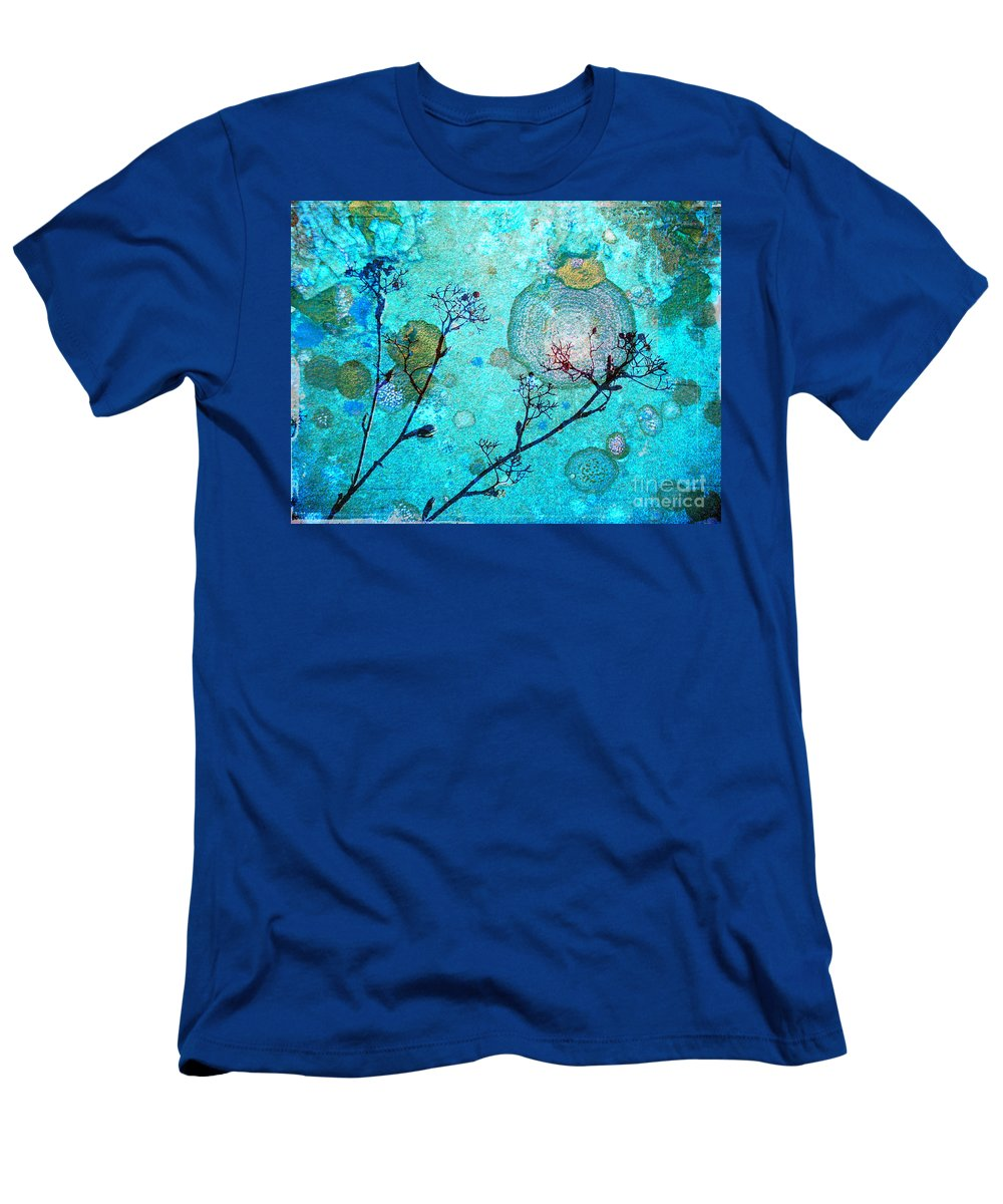 Rust Men's T-Shirt (Athletic Fit) featuring the photograph The Branches And The Moon by Tara Turner