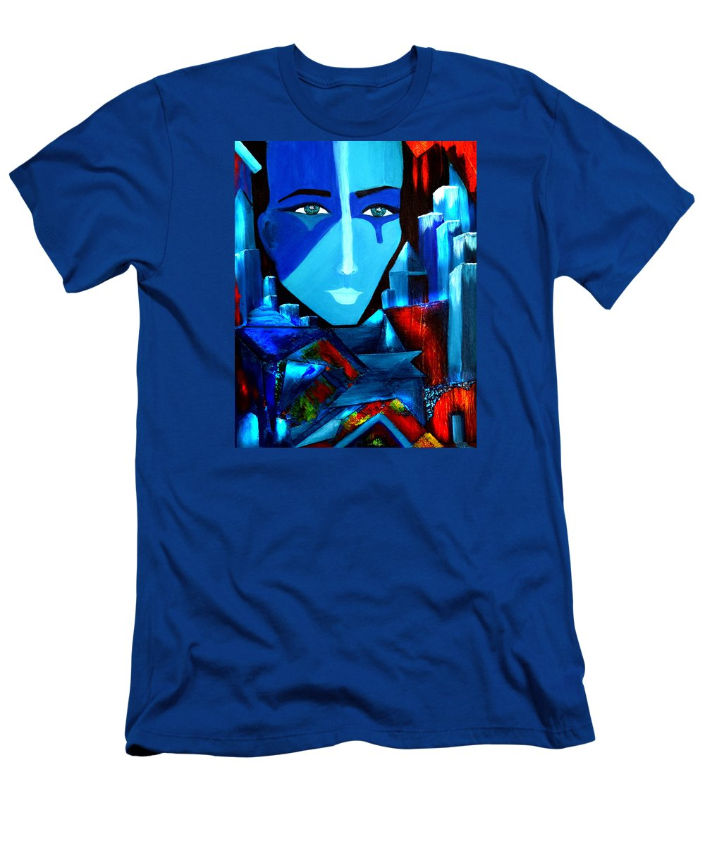 Abstract Men's T-Shirt (Athletic Fit) featuring the painting Abstract Two by Patricia Motley