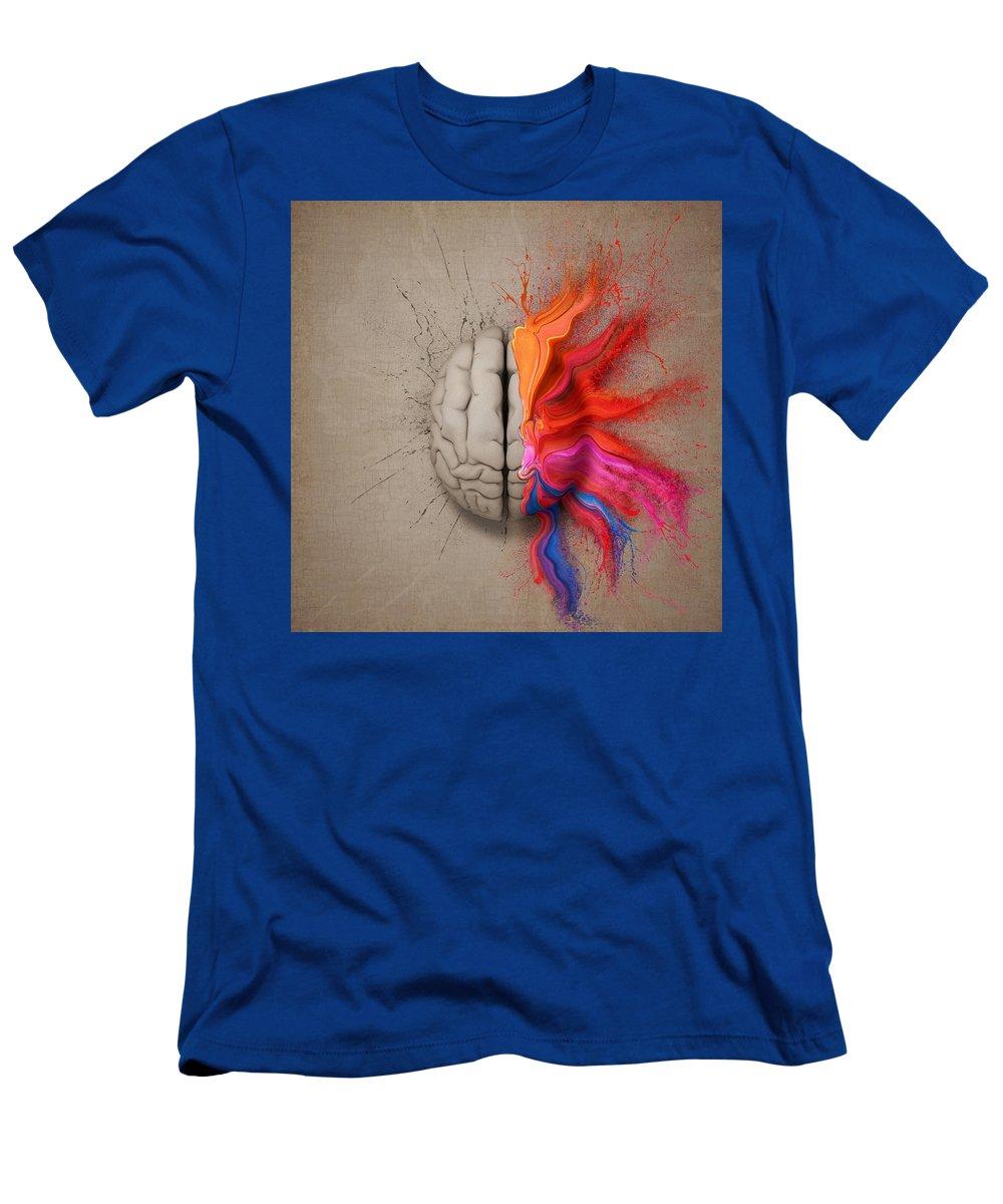 Brain T-Shirt featuring the digital art The Creative Brain by Johan Swanepoel
