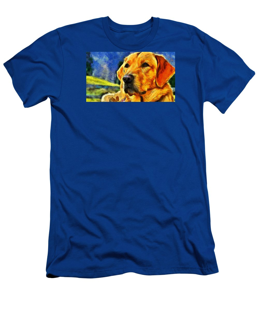 Academic Men's T-Shirt (Athletic Fit) featuring the painting The Dog by Leonardo Digenio