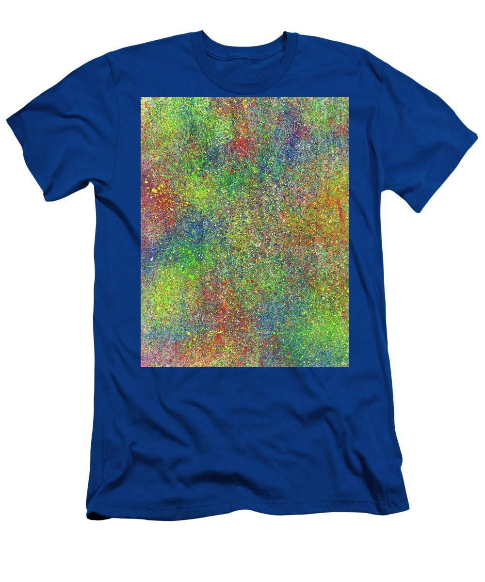 Abstract Men's T-Shirt (Athletic Fit) featuring the painting The God Particles #543 by Rainbow Artist Orlando L