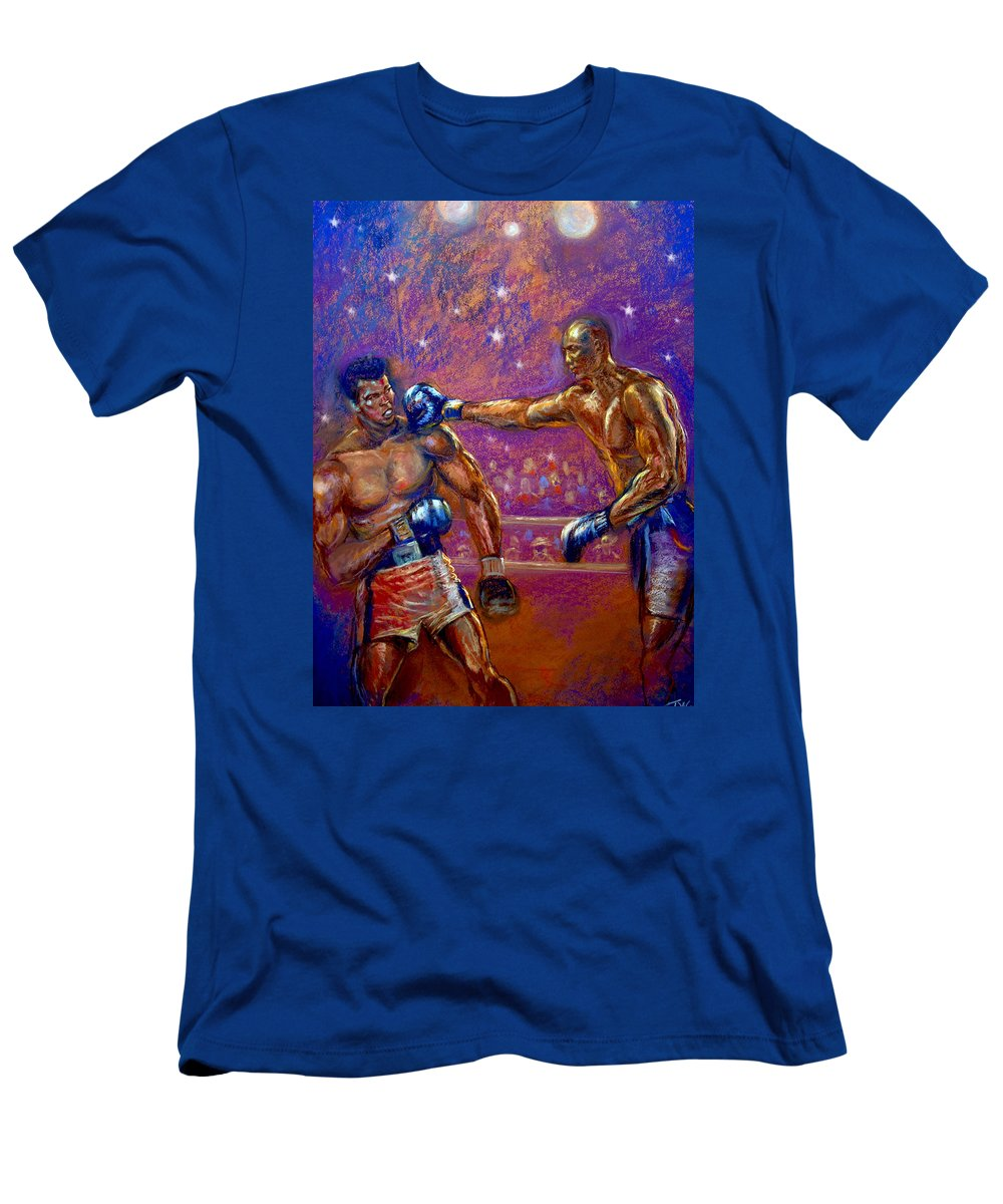 Boxing Men's T-Shirt (Athletic Fit) featuring the pastel the Greatest Muhammed Ali vs Jack Johnson by Tommy Winn
