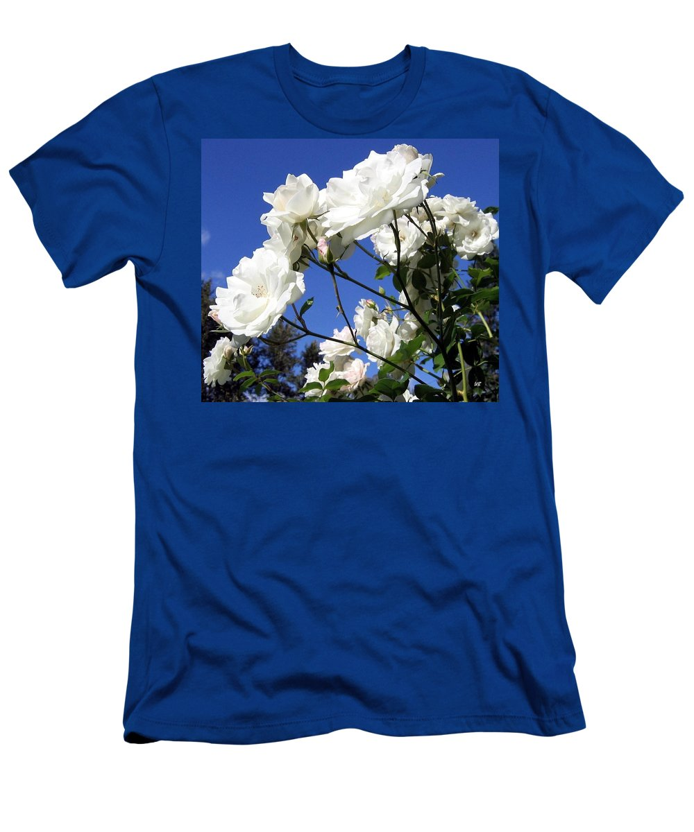 Roses Men's T-Shirt (Athletic Fit) featuring the photograph The Iceberg Rose by Will Borden