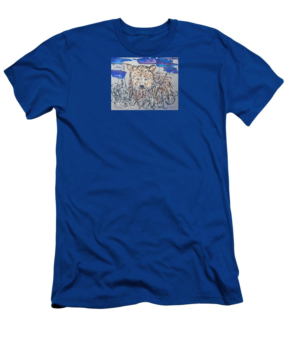 Abstract/impressionist Painting Men's T-Shirt (Athletic Fit) featuring the painting The Kodiak by J R Seymour