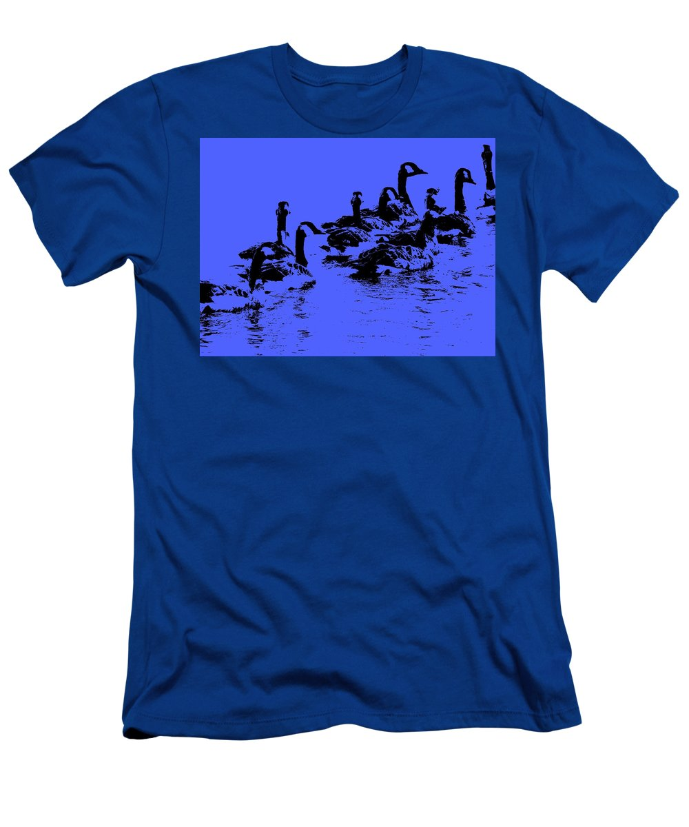 Birds Men's T-Shirt (Athletic Fit) featuring the photograph The Look Out by Ed Smith