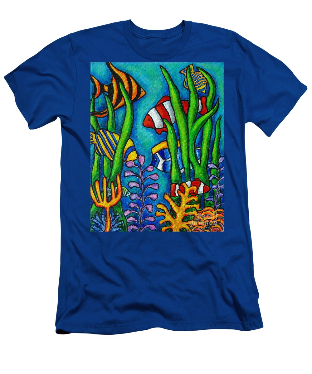 Tropical T-Shirt featuring the painting Tropical Gems by Lisa Lorenz
