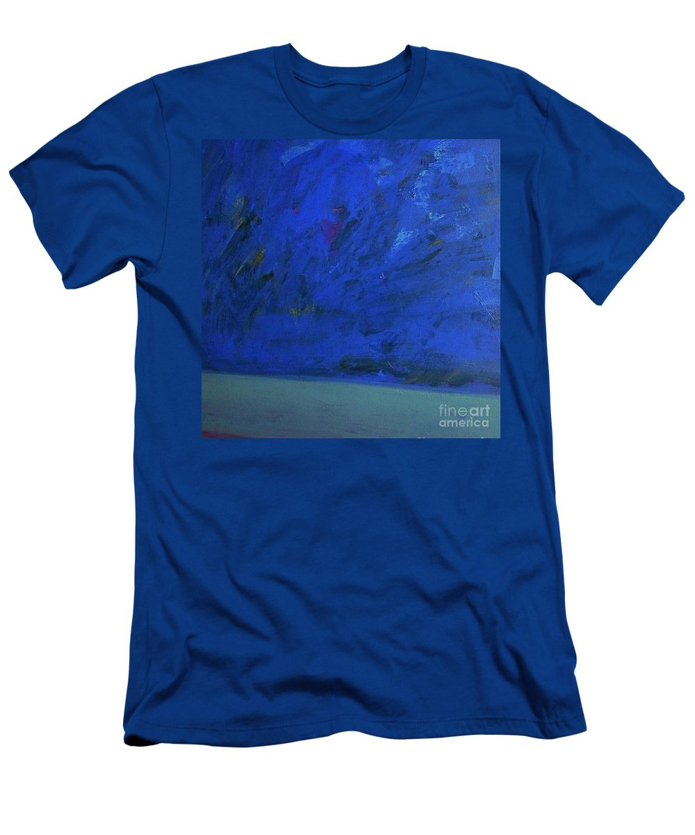 Seascape Men's T-Shirt (Athletic Fit) featuring the painting Tropical Storm by Vesna Antic