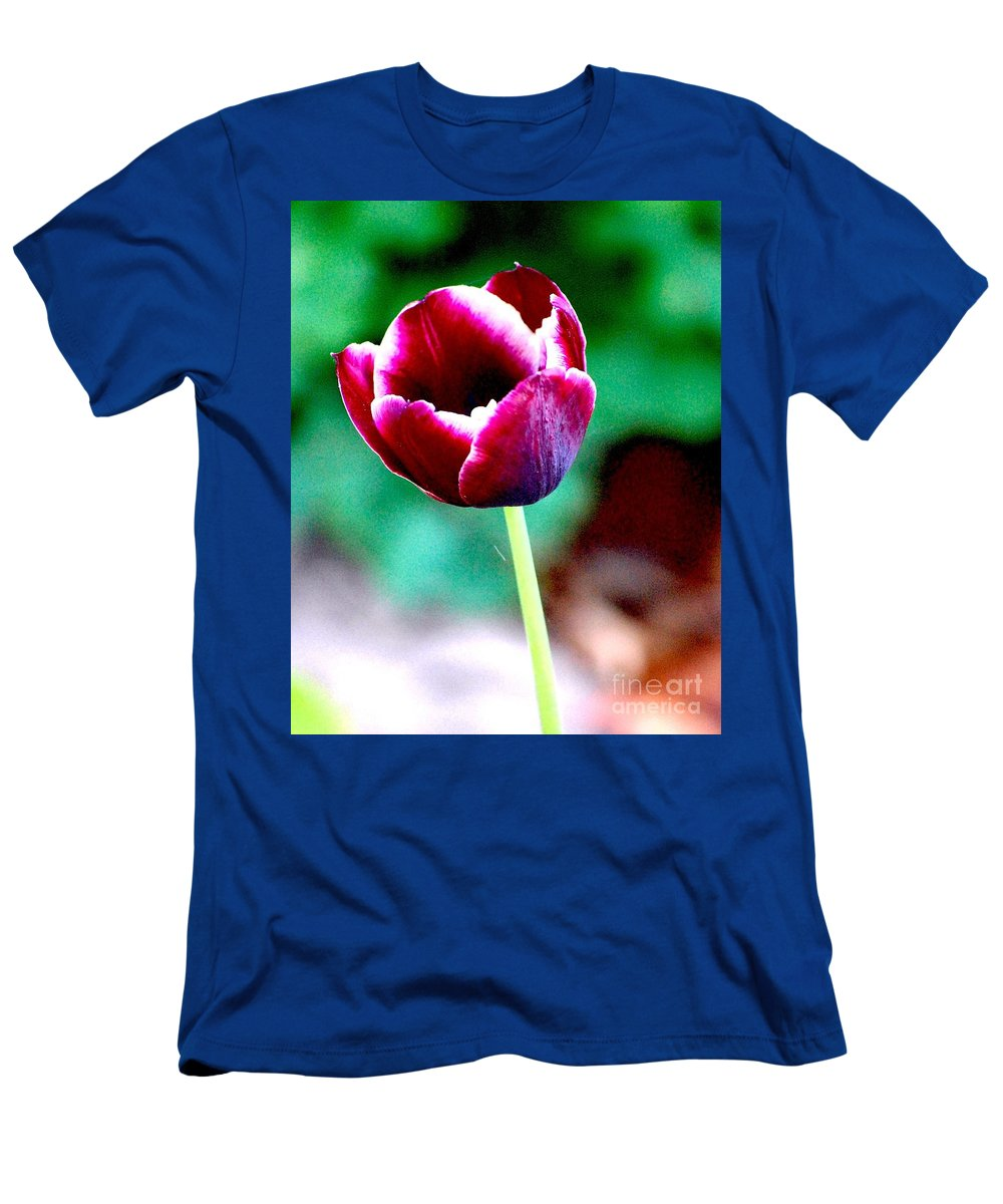 Digital Photo Men's T-Shirt (Athletic Fit) featuring the photograph Tulip Me by David Lane