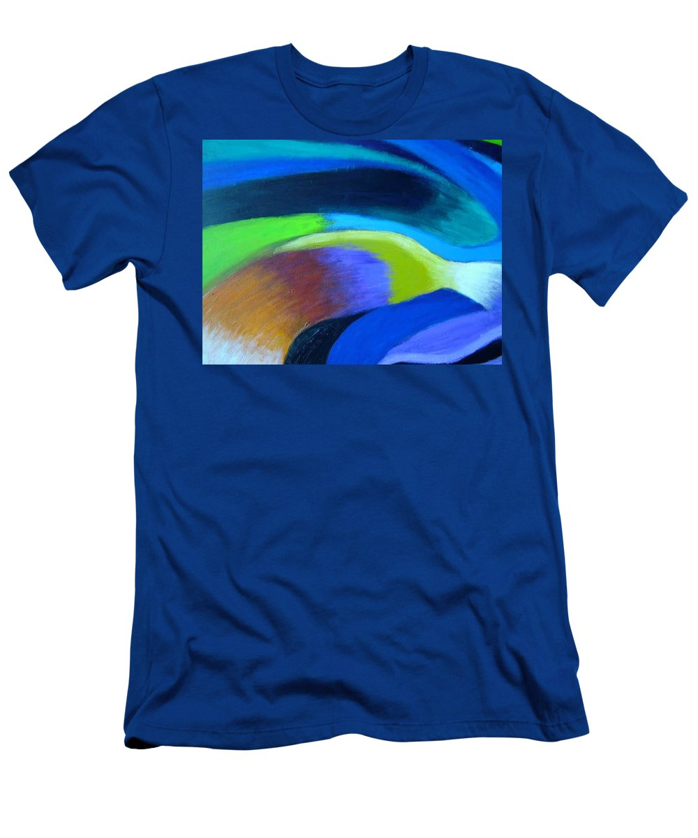 Turbulence Men's T-Shirt (Athletic Fit) featuring the painting Turbulence by Jan Gilmore