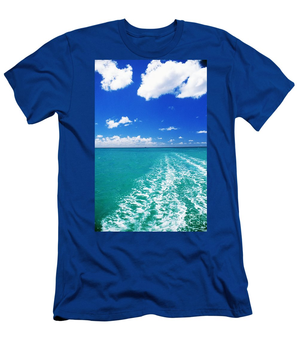 Beautiful Men's T-Shirt (Athletic Fit) featuring the photograph Turquoise Ocean by Dana Edmunds - Printscapes