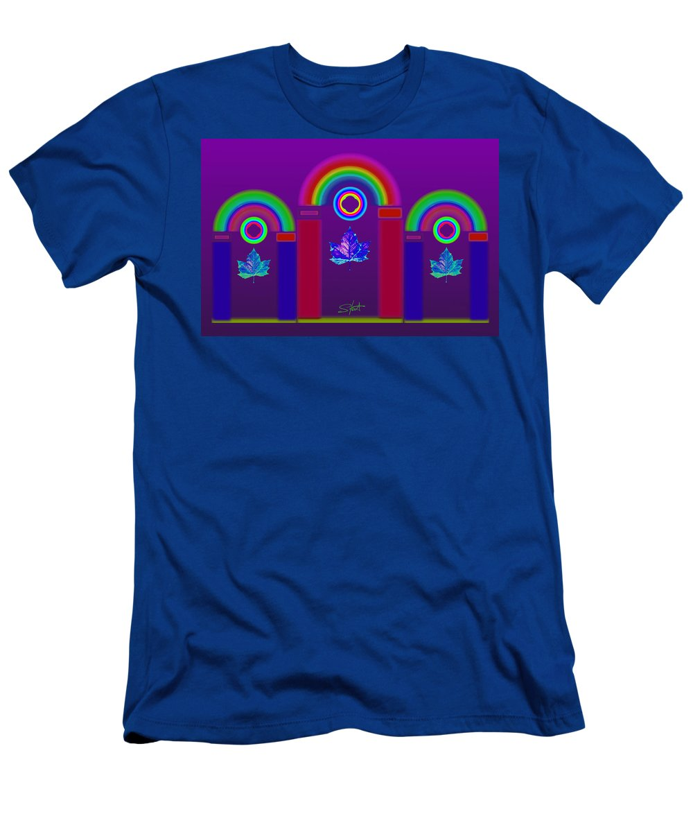 Classical Men's T-Shirt (Athletic Fit) featuring the painting Tuscan Violet by Charles Stuart