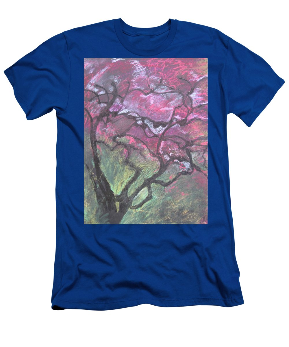 Pastel T-Shirt featuring the drawing Twisted Cherry by Leah Tomaino