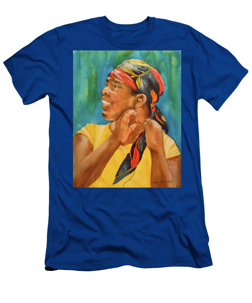 Girl Men's T-Shirt (Athletic Fit) featuring the painting Twisted Sister by Jean Blackmer