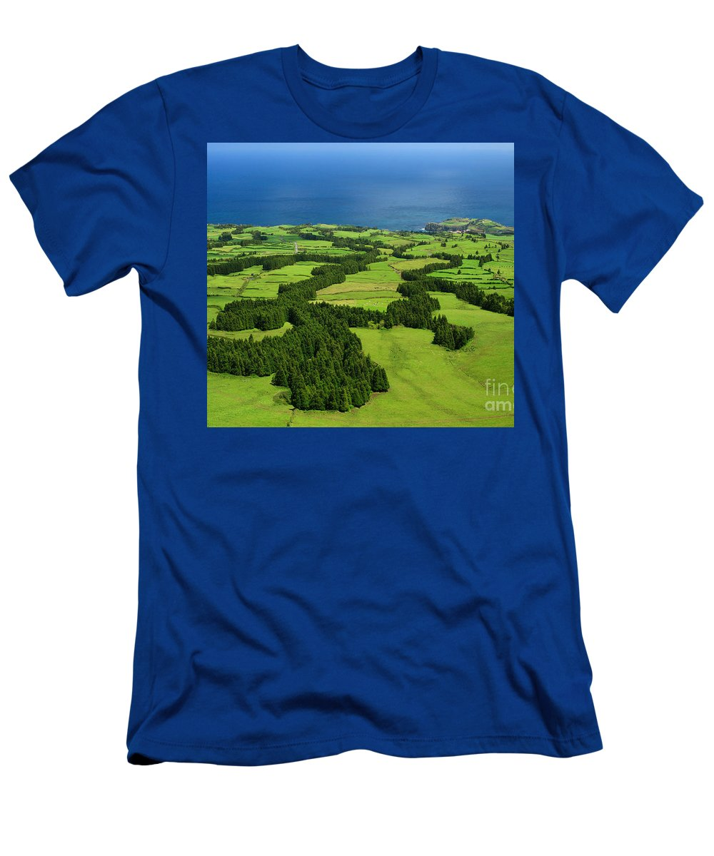 Landscape Men's T-Shirt (Athletic Fit) featuring the photograph Typical Azores Islands Landscape by Gaspar Avila