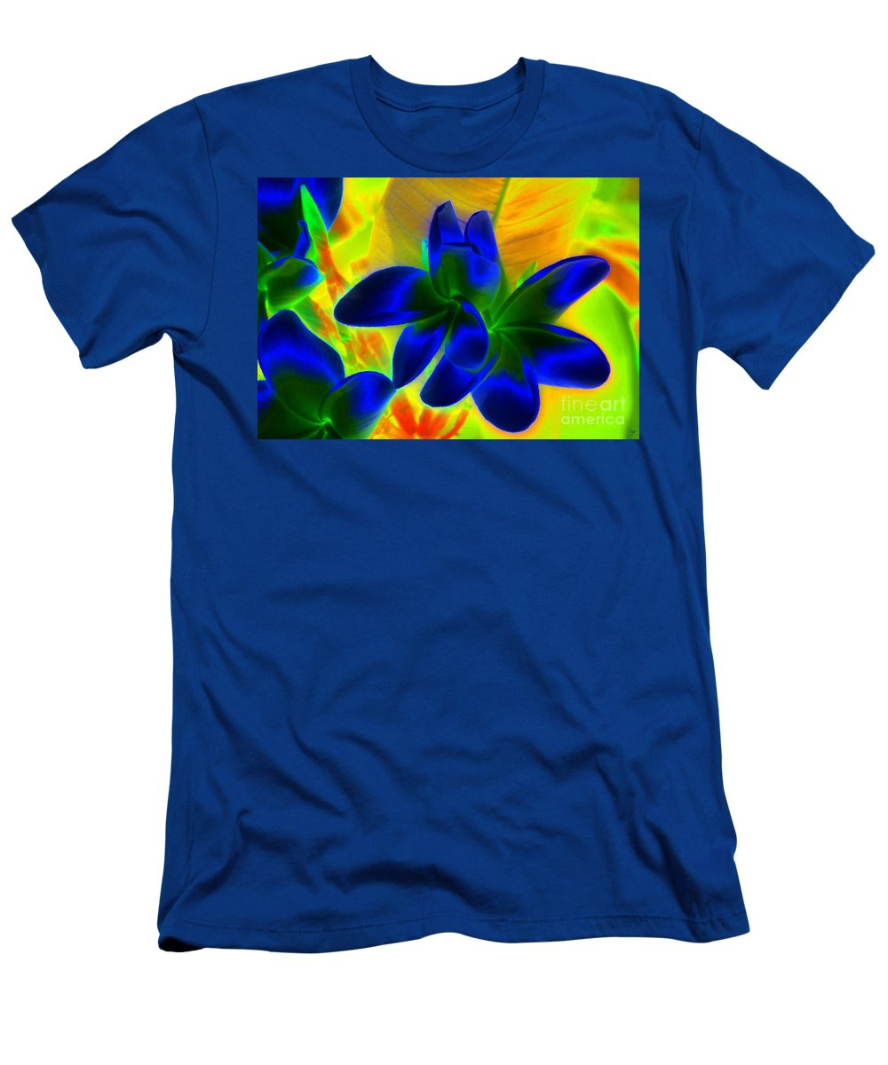 Ultraviolet Men's T-Shirt (Athletic Fit) featuring the painting Ultraviolet by David Lee Thompson