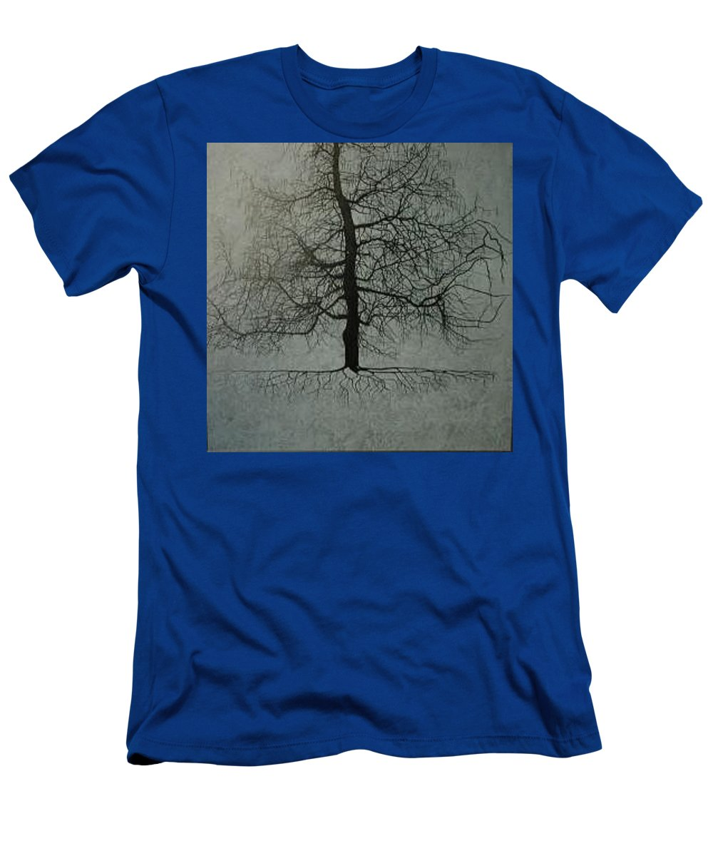 Silhouette T-Shirt featuring the painting Untitled Blue by Leah Tomaino