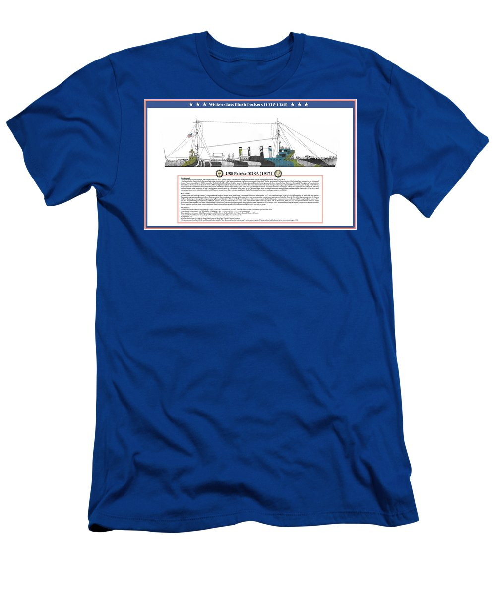 Destroyer T-Shirt featuring the painting USS Fairfax DD 93 by The Collectioner