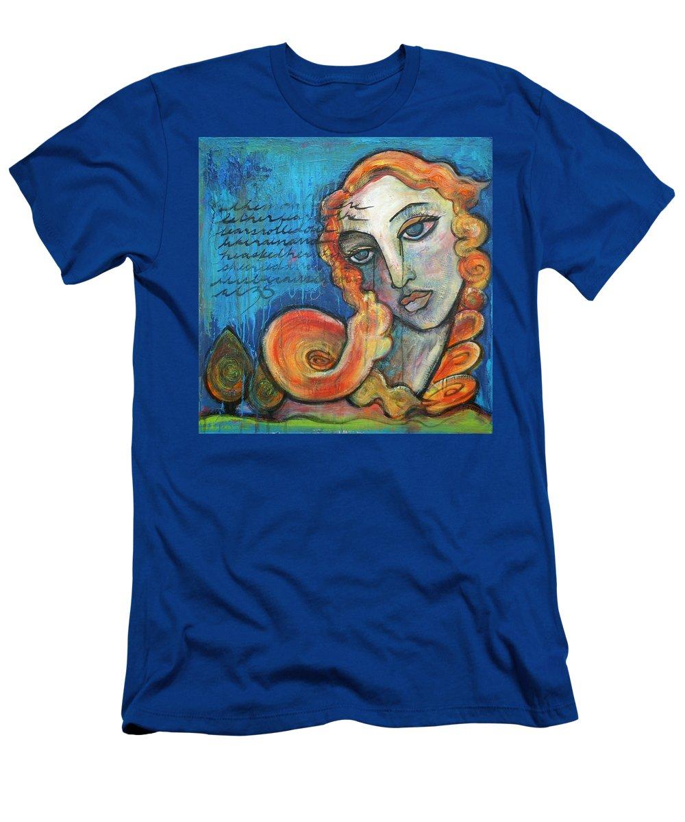 Venus Men's T-Shirt (Athletic Fit) featuring the painting Venus Lets Go by Laurie Maves ART