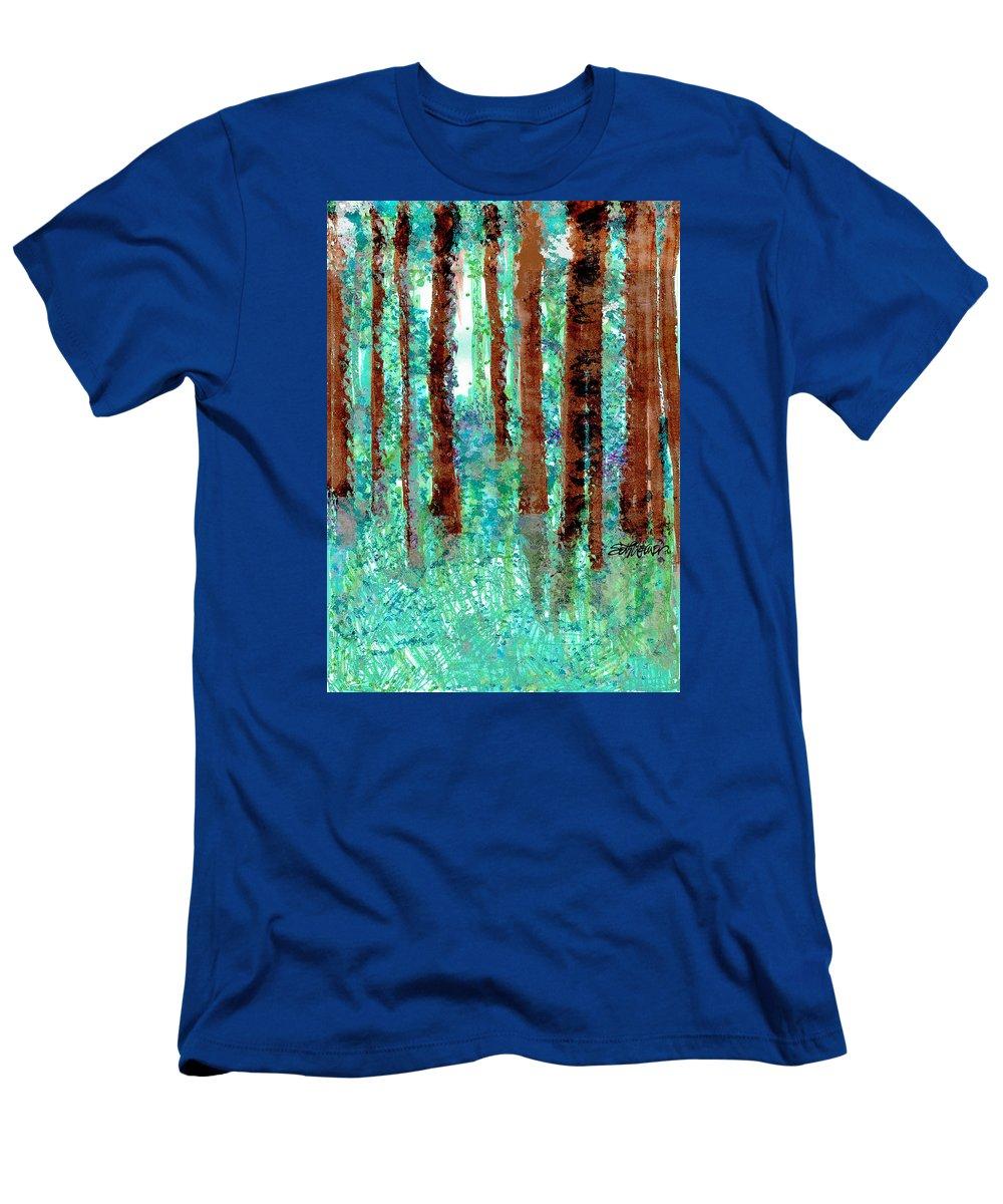 Verdant Vistas T-Shirt featuring the drawing Verdant Vistas by Seth Weaver