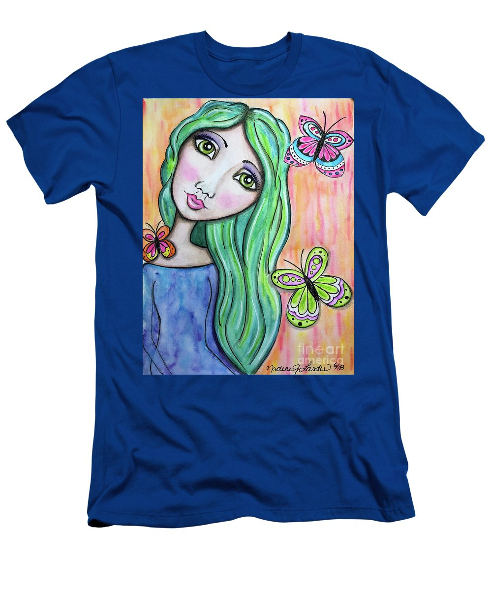 Whimsical Character T-Shirt featuring the painting Hazel by Nadine Larder
