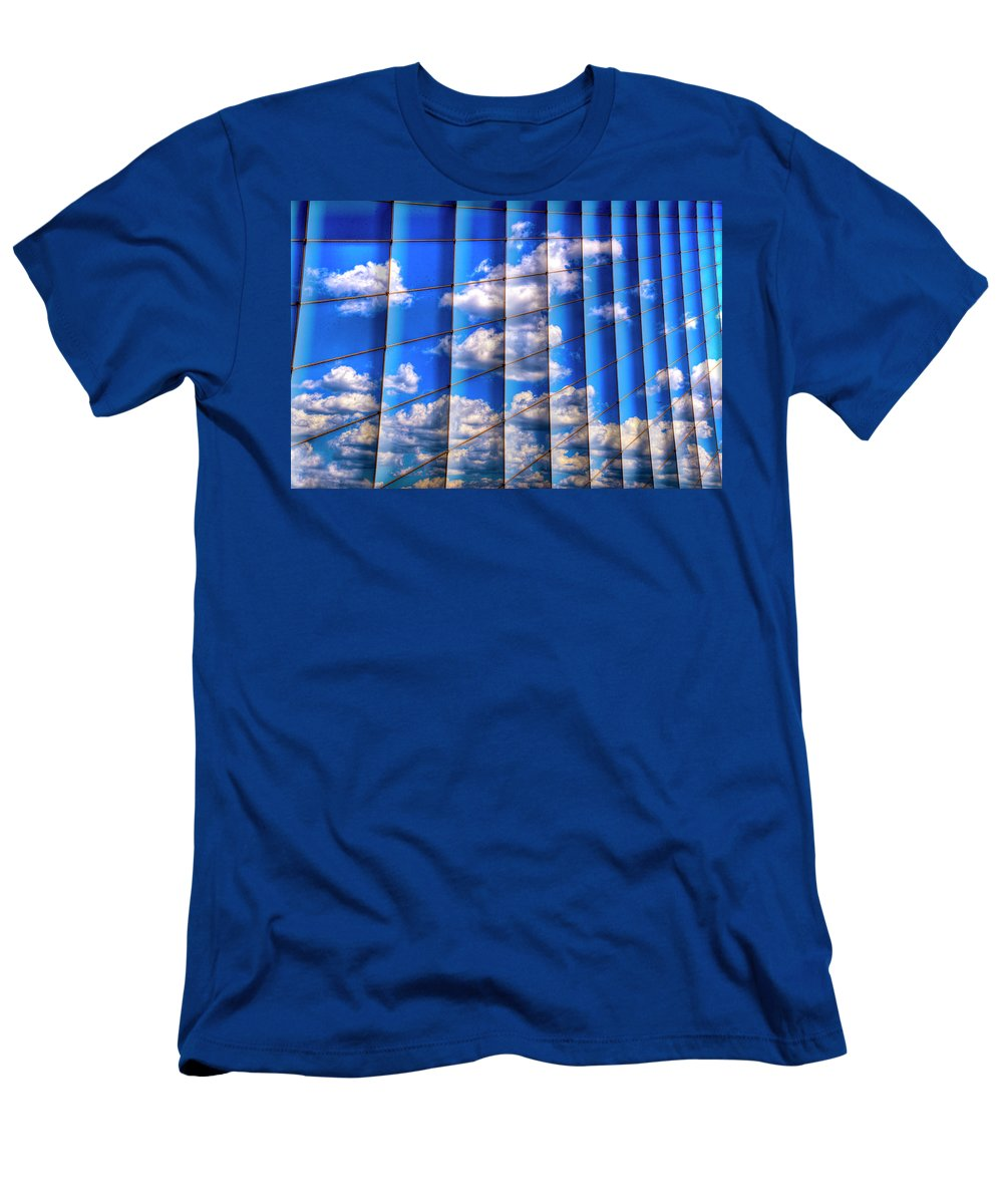 Vertical Sky Men's T-Shirt (Athletic Fit) featuring the photograph Vertical Sky by Paul Wear