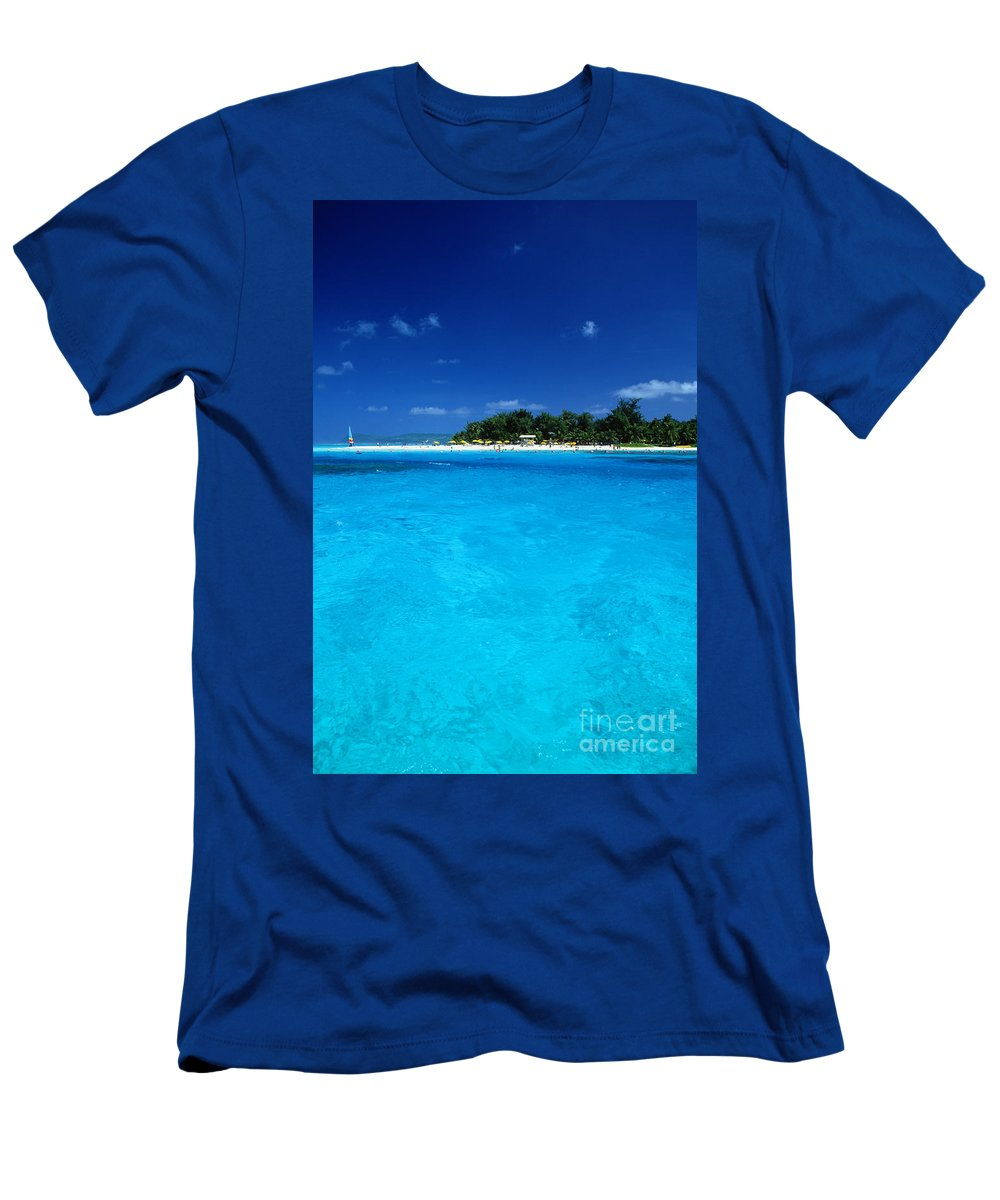 Afternoon Men's T-Shirt (Athletic Fit) featuring the photograph Vibrant Turquoise Waters by Greg Vaughn - Printscapes