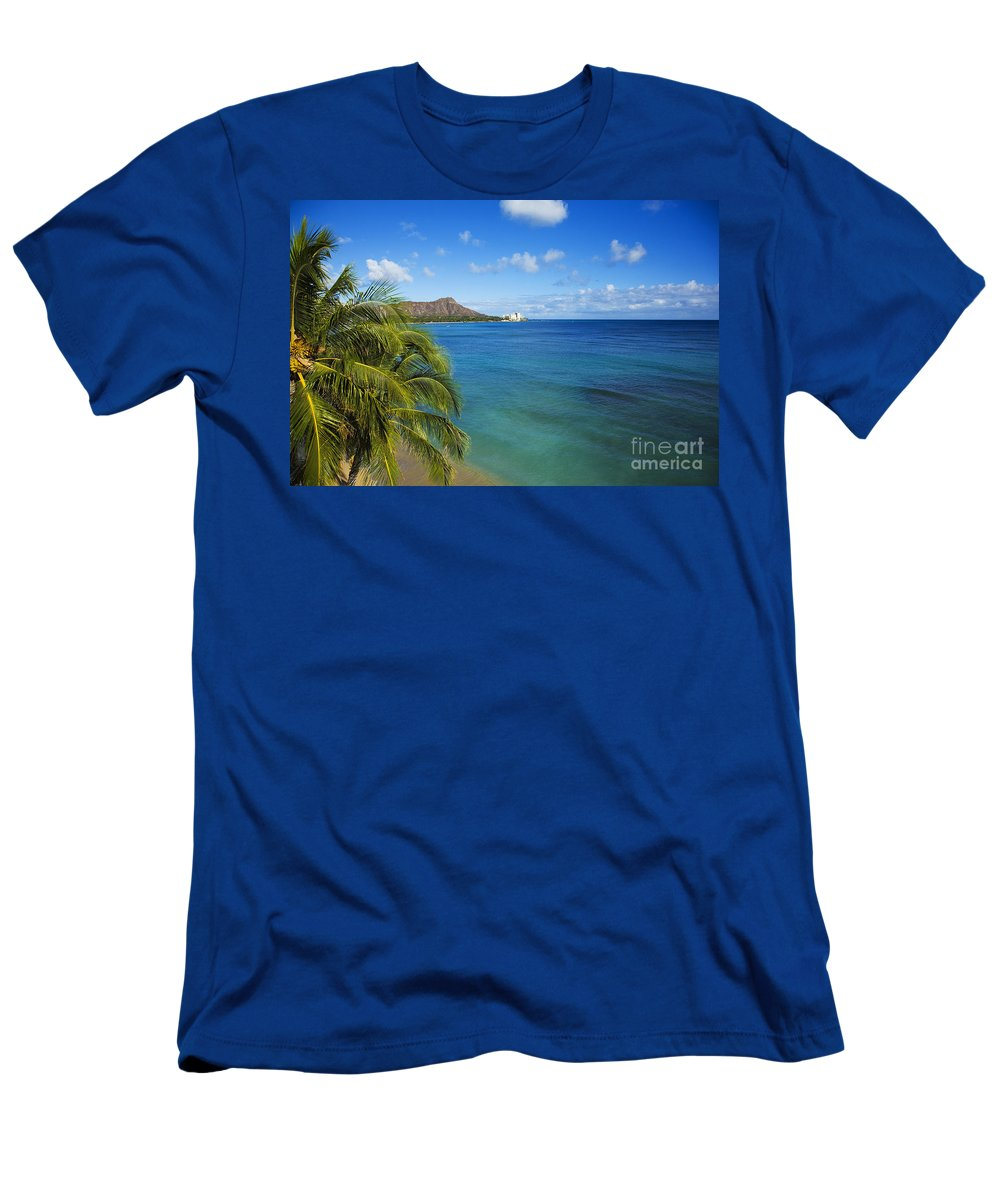 Abraham Men's T-Shirt (Athletic Fit) featuring the photograph View Of Diamond Head by Dana Edmunds - Printscapes