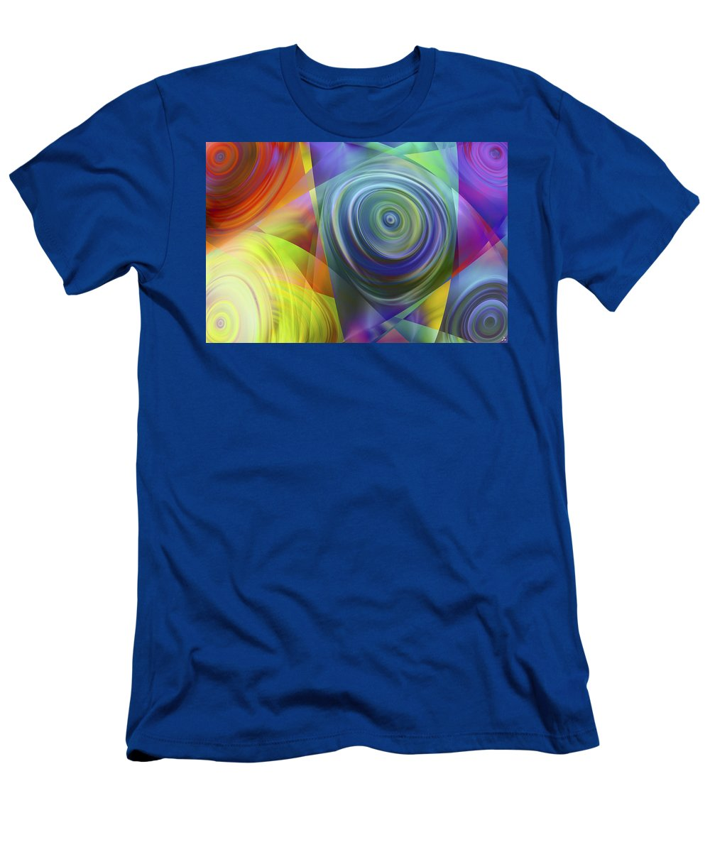 Colors T-Shirt featuring the digital art Vision 39 by Jacques Raffin