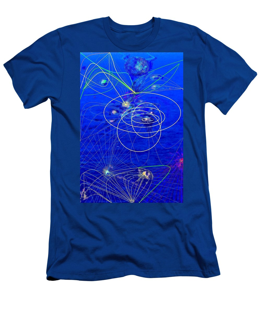 Abstract Men's T-Shirt (Athletic Fit) featuring the digital art Voyage by Ian MacDonald