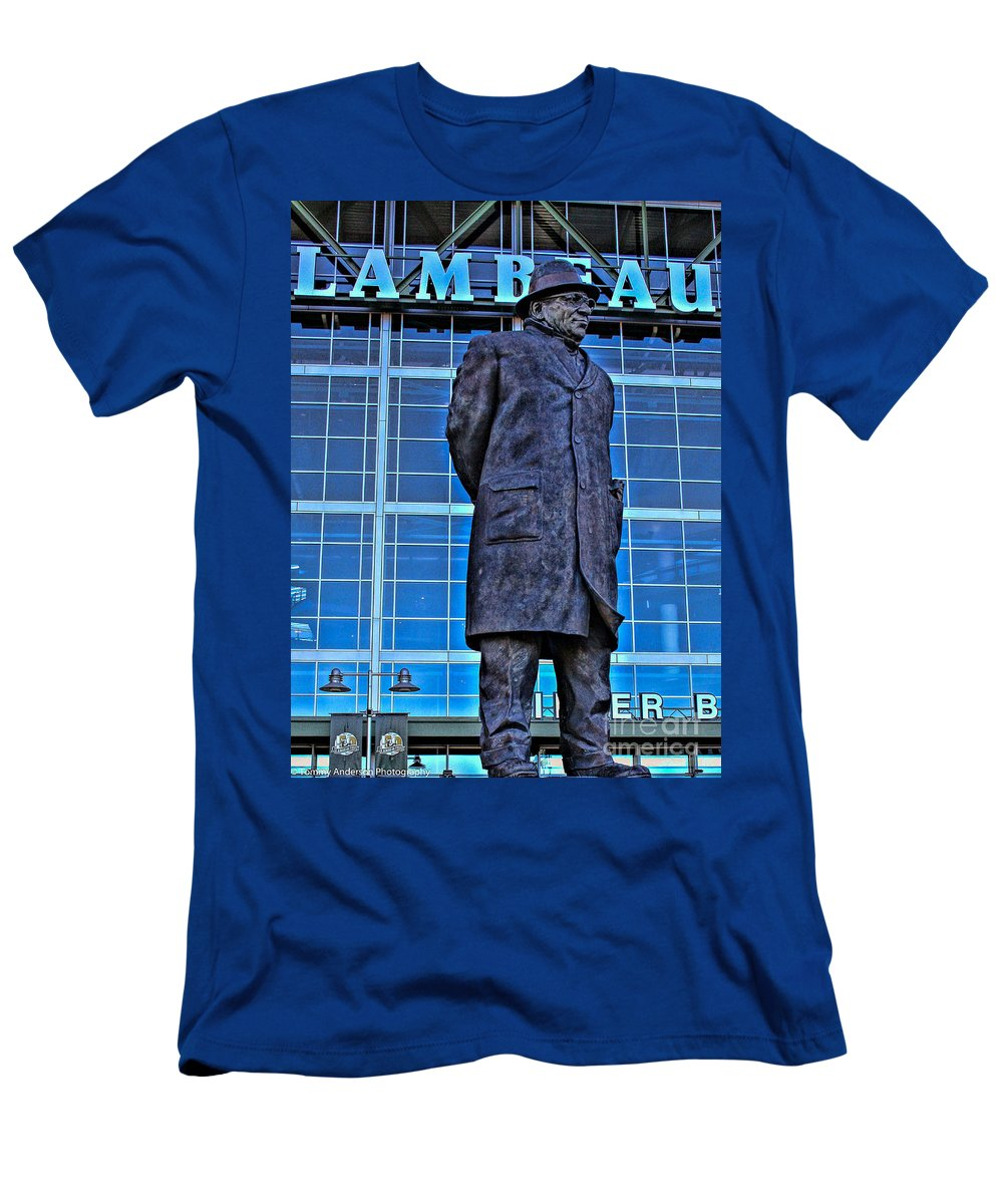 Lambeau Field Men's T-Shirt (Athletic Fit) featuring the photograph Waiting For Victory by Tommy Anderson
