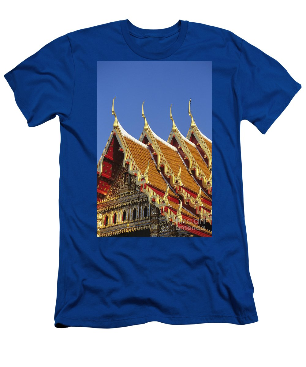 Architecture Men's T-Shirt (Athletic Fit) featuring the photograph Wat Benjamabophit by Gloria & Richard Maschmeyer - Printscapes