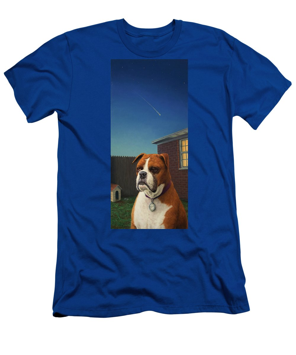 Watchdog Men's T-Shirt (Athletic Fit) featuring the painting Watchdog by James W Johnson