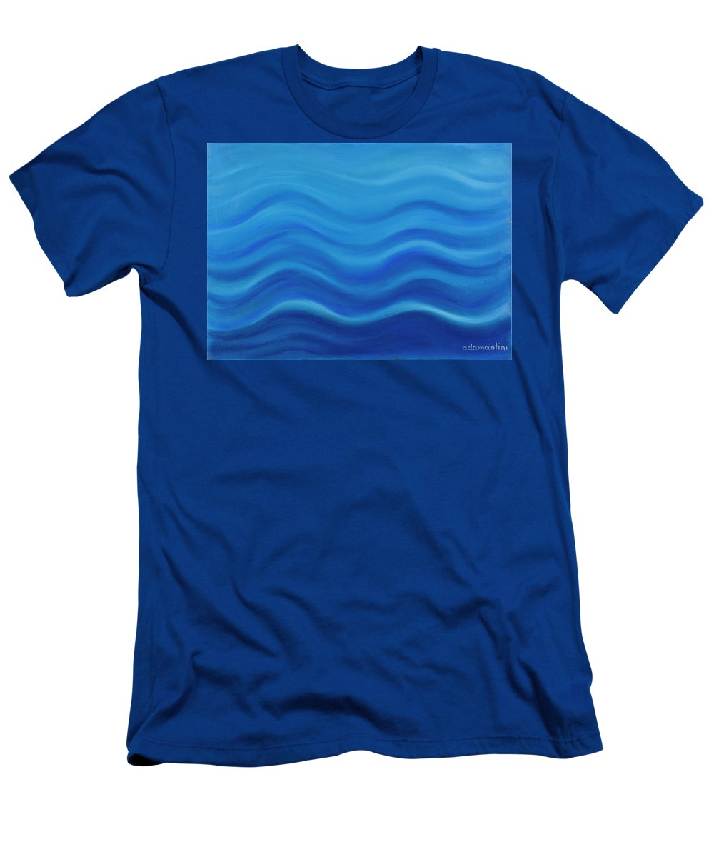 Water T-Shirt featuring the painting Water by Adamantini Feng shui