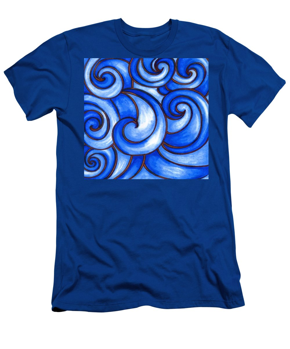 Water T-Shirt featuring the painting Waves of Mercy by Vonda Drees