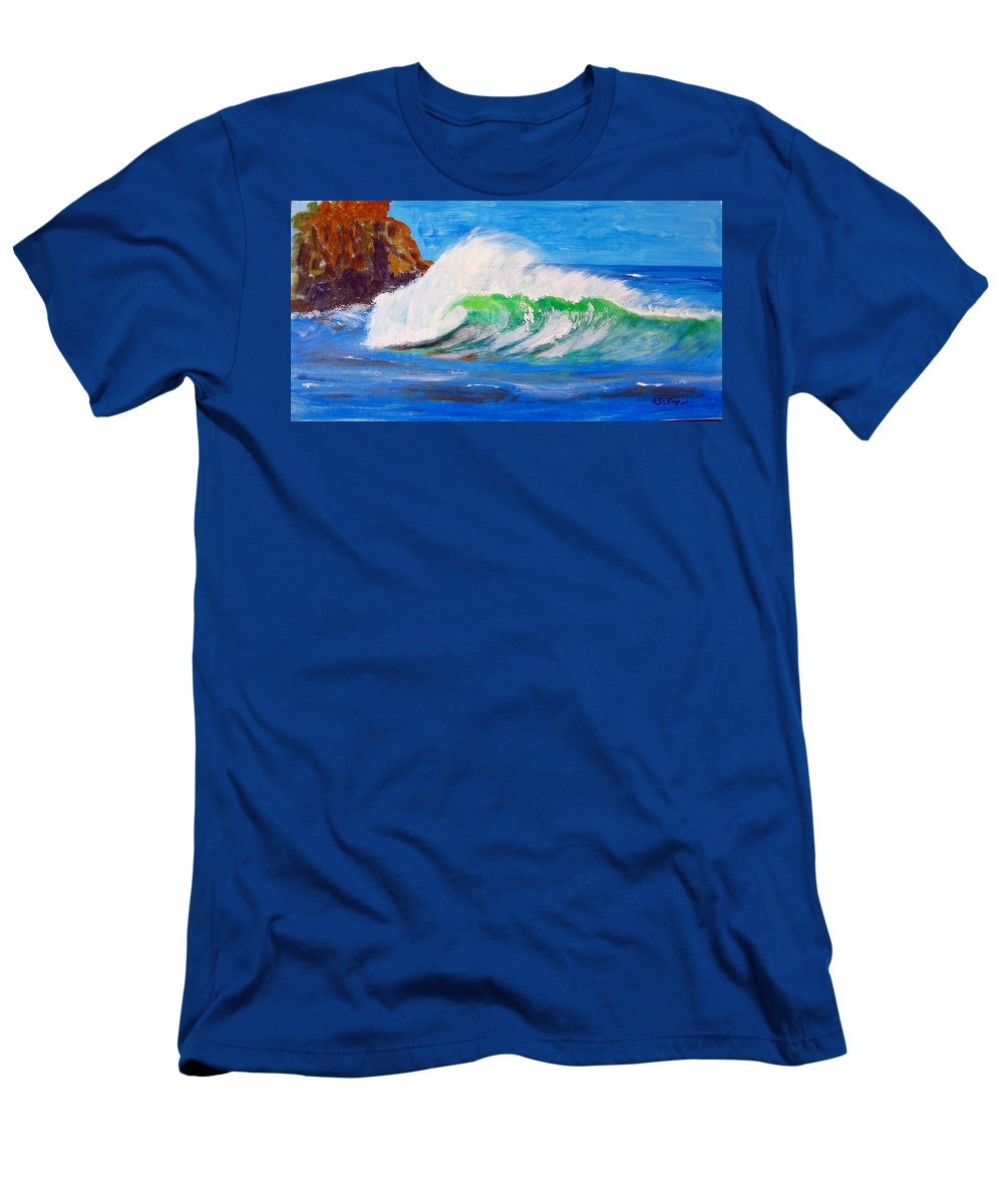 Waves Men's T-Shirt (Athletic Fit) featuring the painting Waves by Richard Le Page