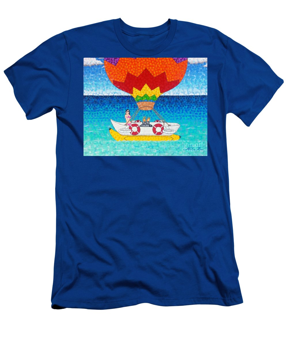 Whatever Men's T-Shirt (Athletic Fit) featuring the painting Whatever Floats Your Boat by Martin Ross